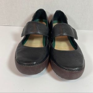 Camper black leather Mary Janes